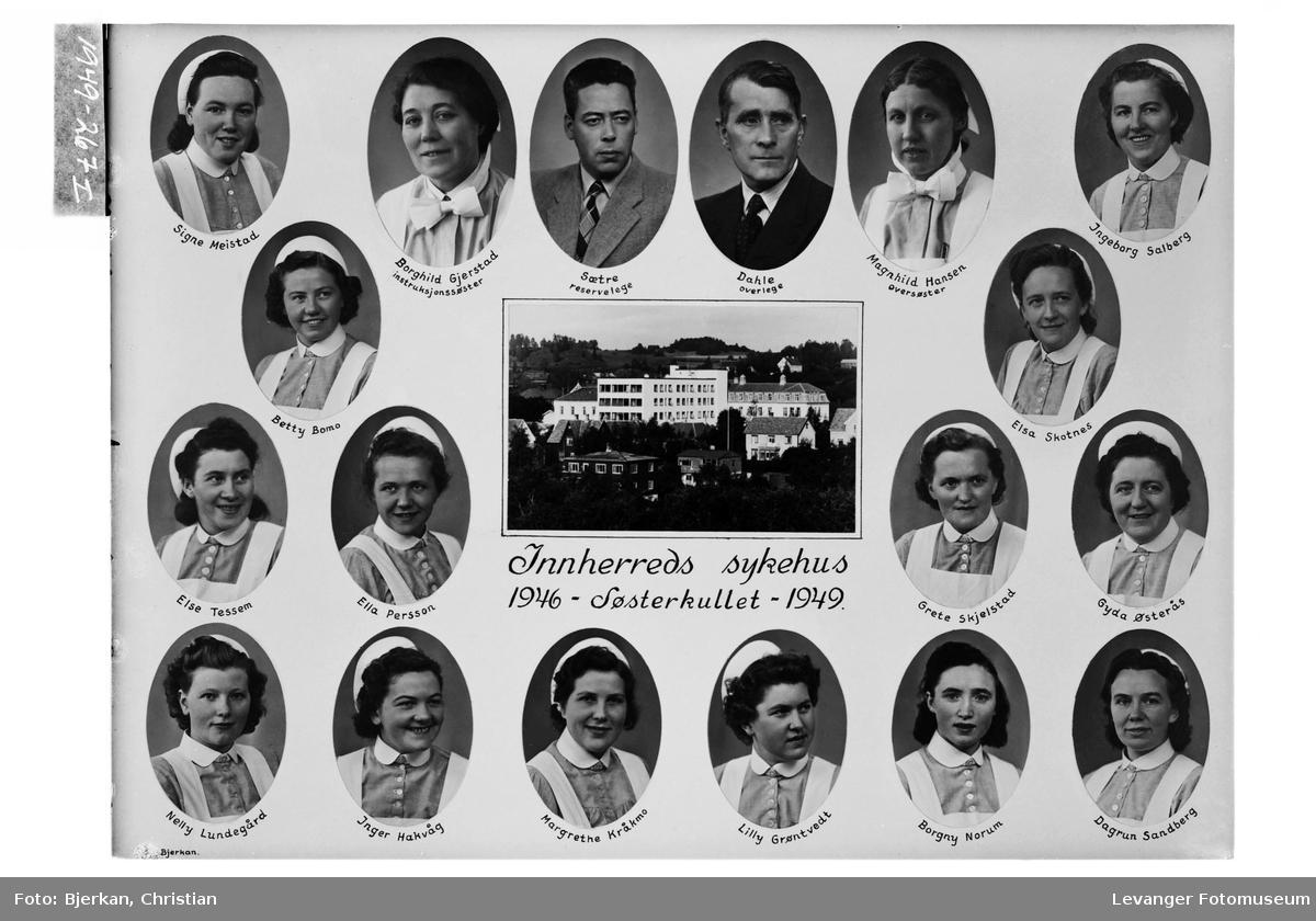 Søsterkullet ved Innhered Sykehus, 1949