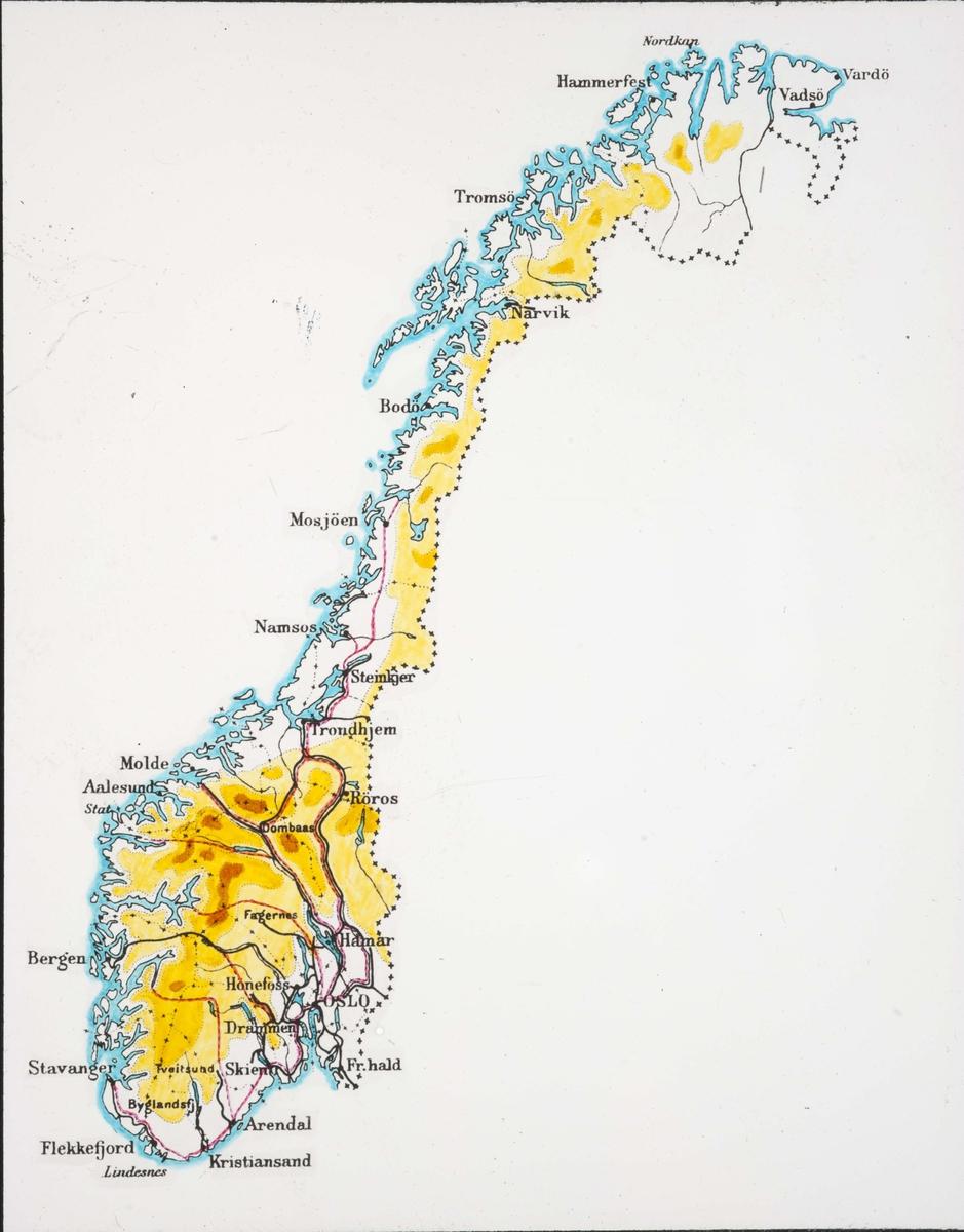 Karta Norge Drammen.Landkarter Og Oversikter Vedrorende Disse Norge Hoydekart Kart