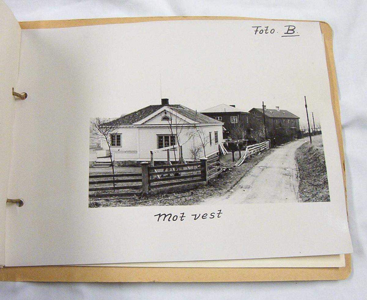 Skisser av Jonsvannsveien 46, inneholder også foto av Bandeklosteret. 7 stk situasjonsplaner. Skissene er heftet sammen.