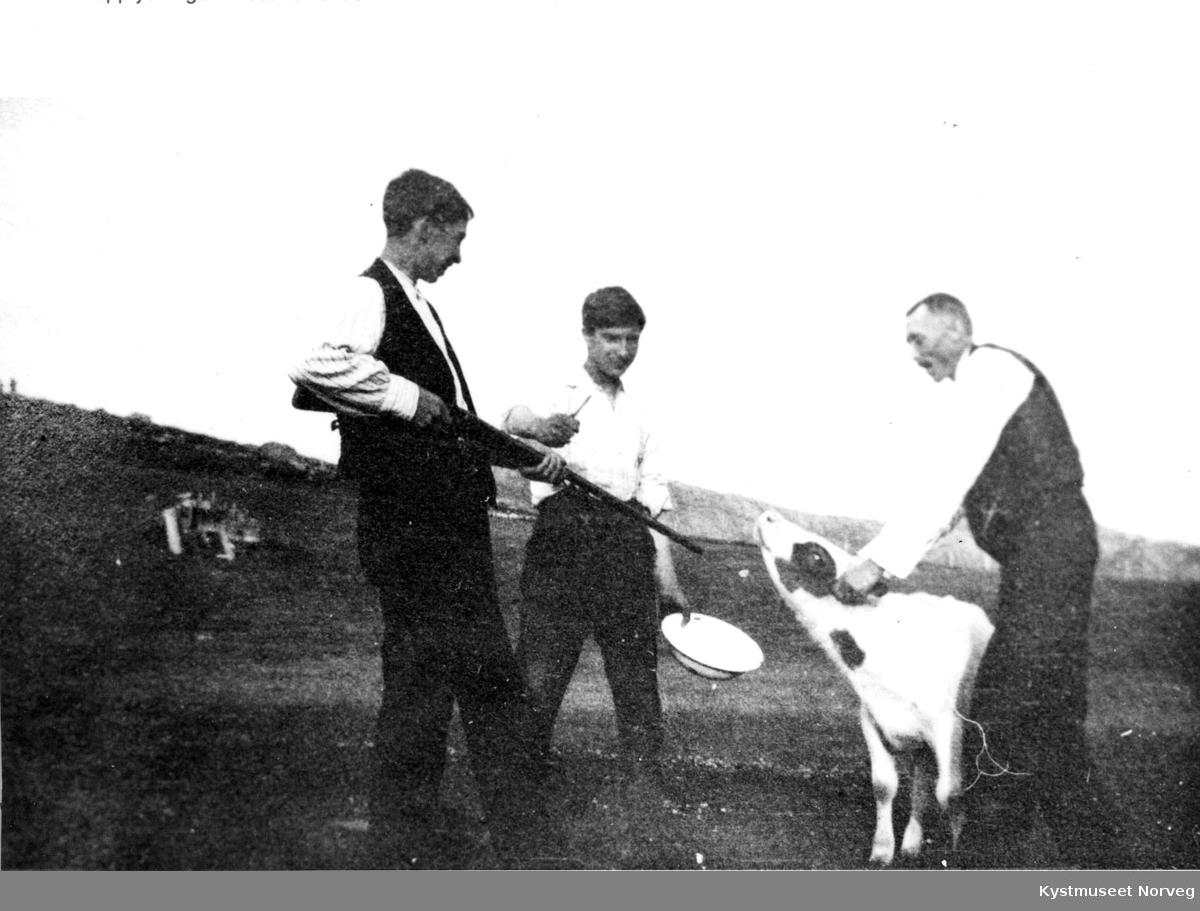 Johan Stamnes, Otto Hågensen og Hans Lie i Flatanger