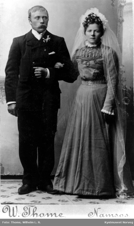 Brudebilde av Kristian Olsen Valø og Oldine Olsdatter Ramstad Valø
