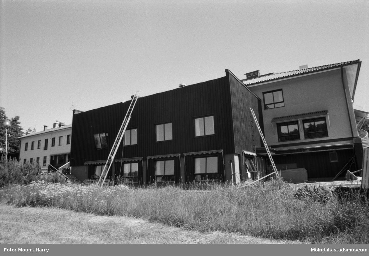 Nybygge på Torrekulla turiststation i Kållered, år 1984. Fotografi taget av Harry Moum, HUM, Mölndals-Posten.