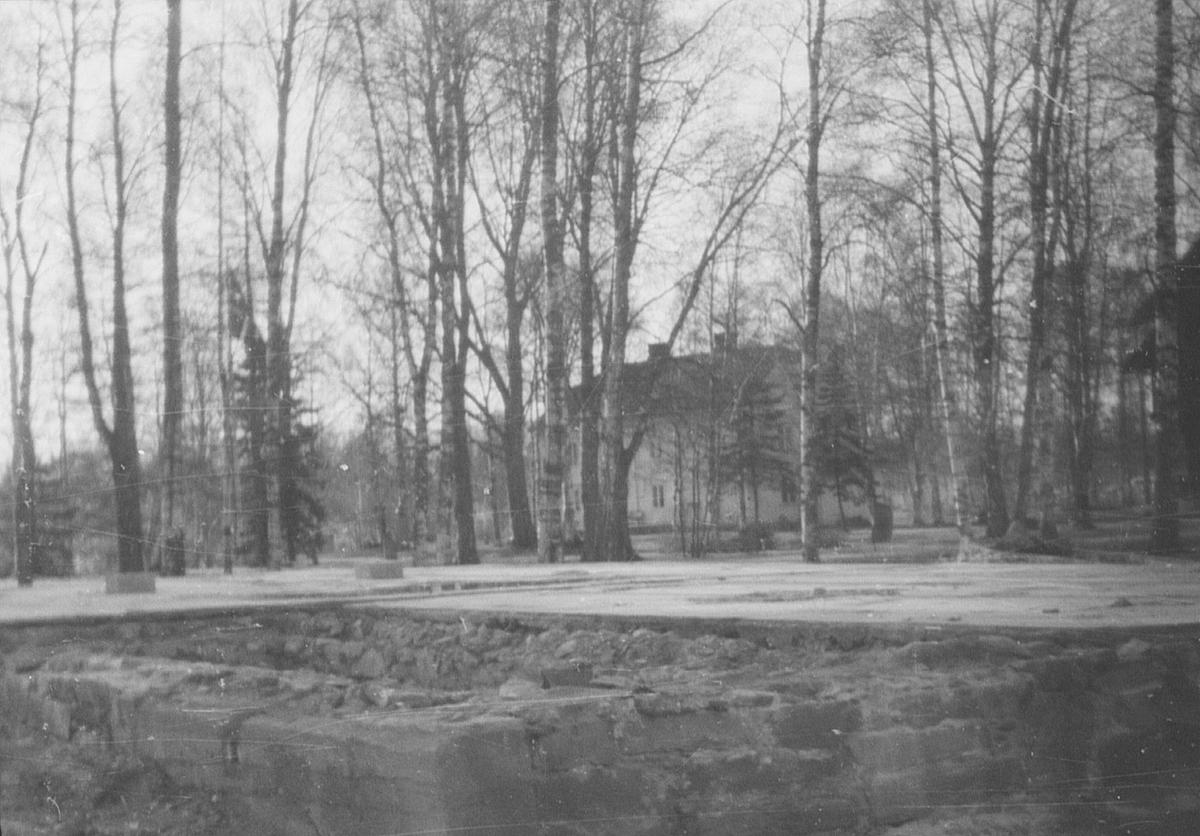 17. mai. Elverum.  1964. Korsbakken. Grunnmur.
