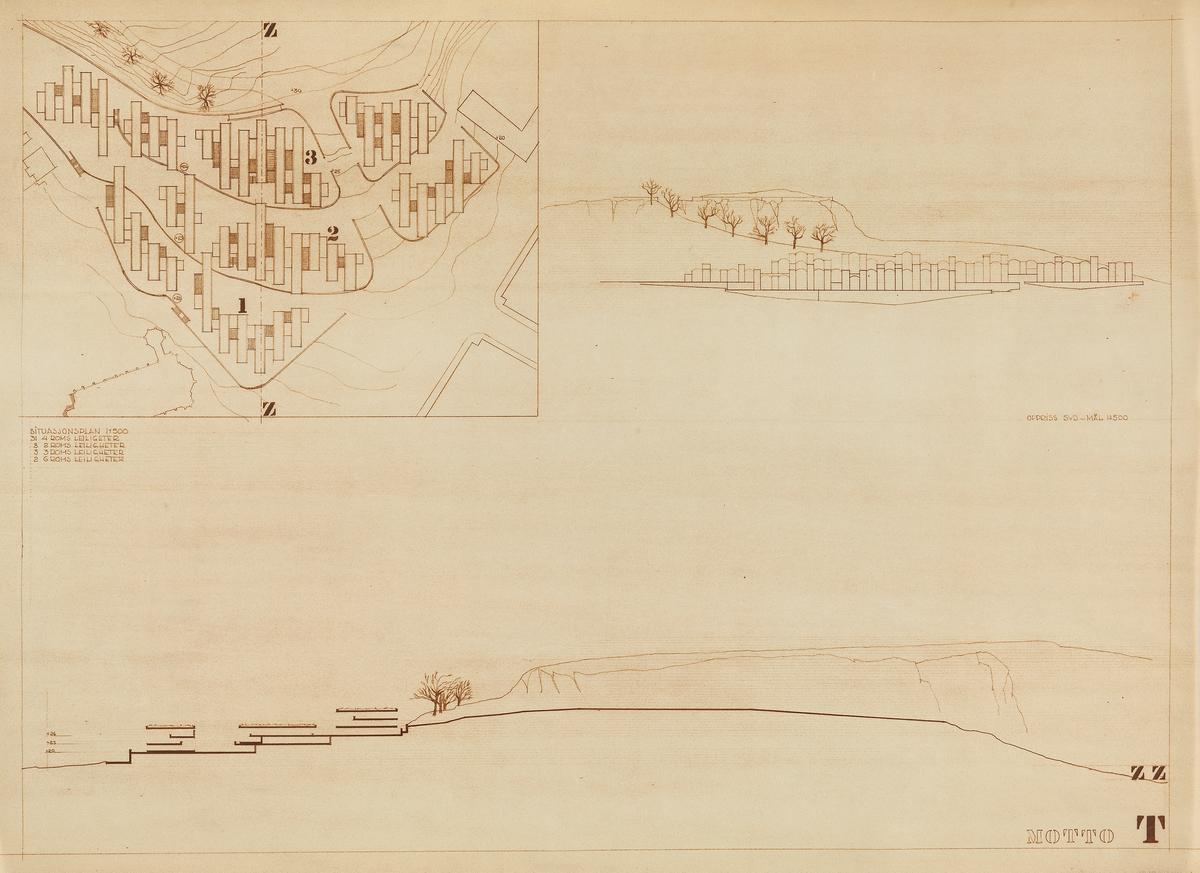 Regulerings- og bebyggelsesplan med boligtyper i Tønsberg [Situasjonsplan]