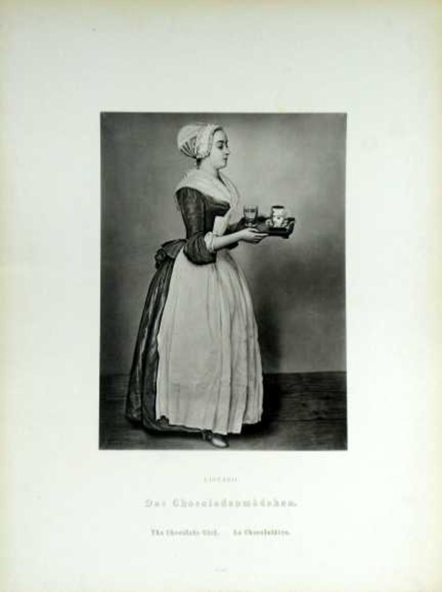 En ung kvinne serverer sjokolade.