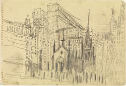 Trinity Church, New York [Tegning]