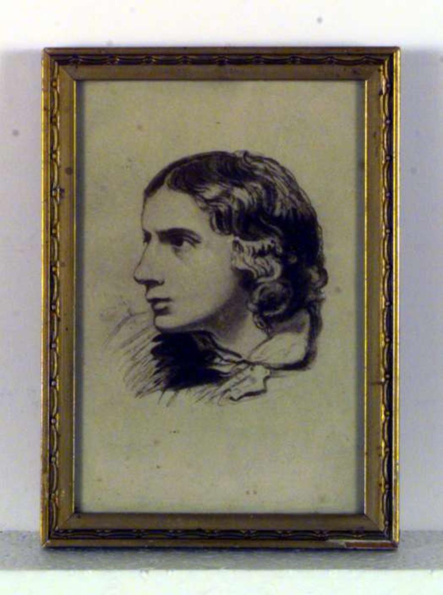 Portrett av dikteren John Keats (1795 - 1821)