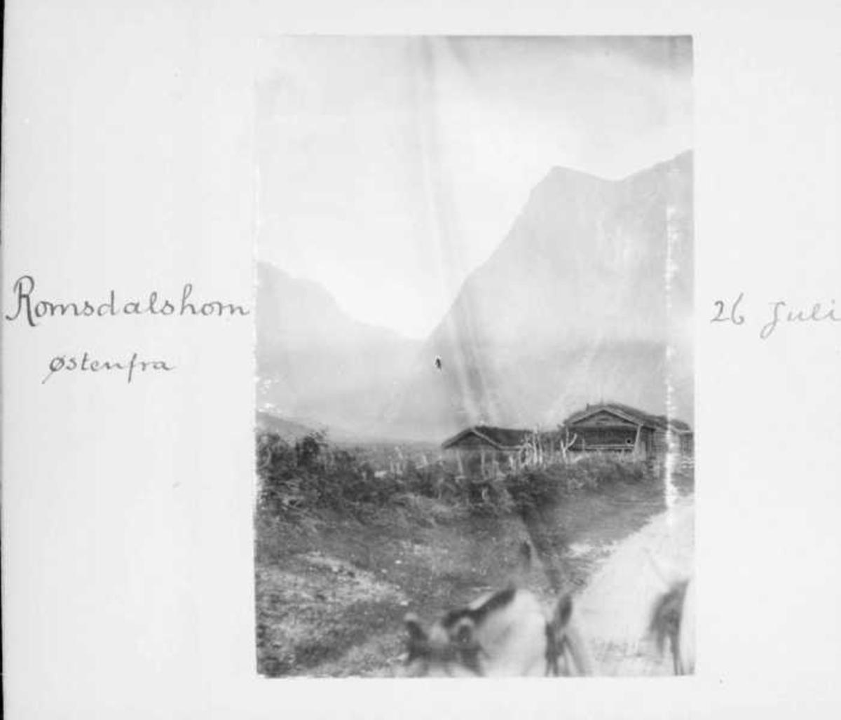 Album, fjell, hus, veg,
