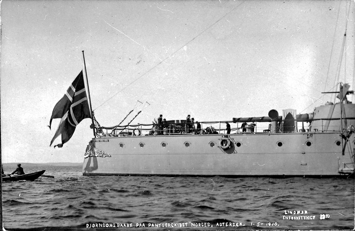 Panserskip, Norge, flagg, båt, båre