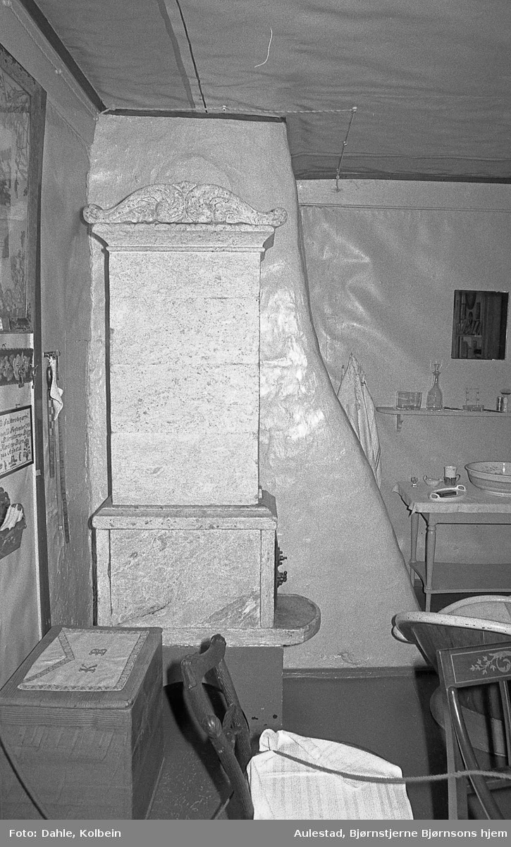 DOK:1971, klebersteinsovn, påkledningsværelse, stol, badekar,