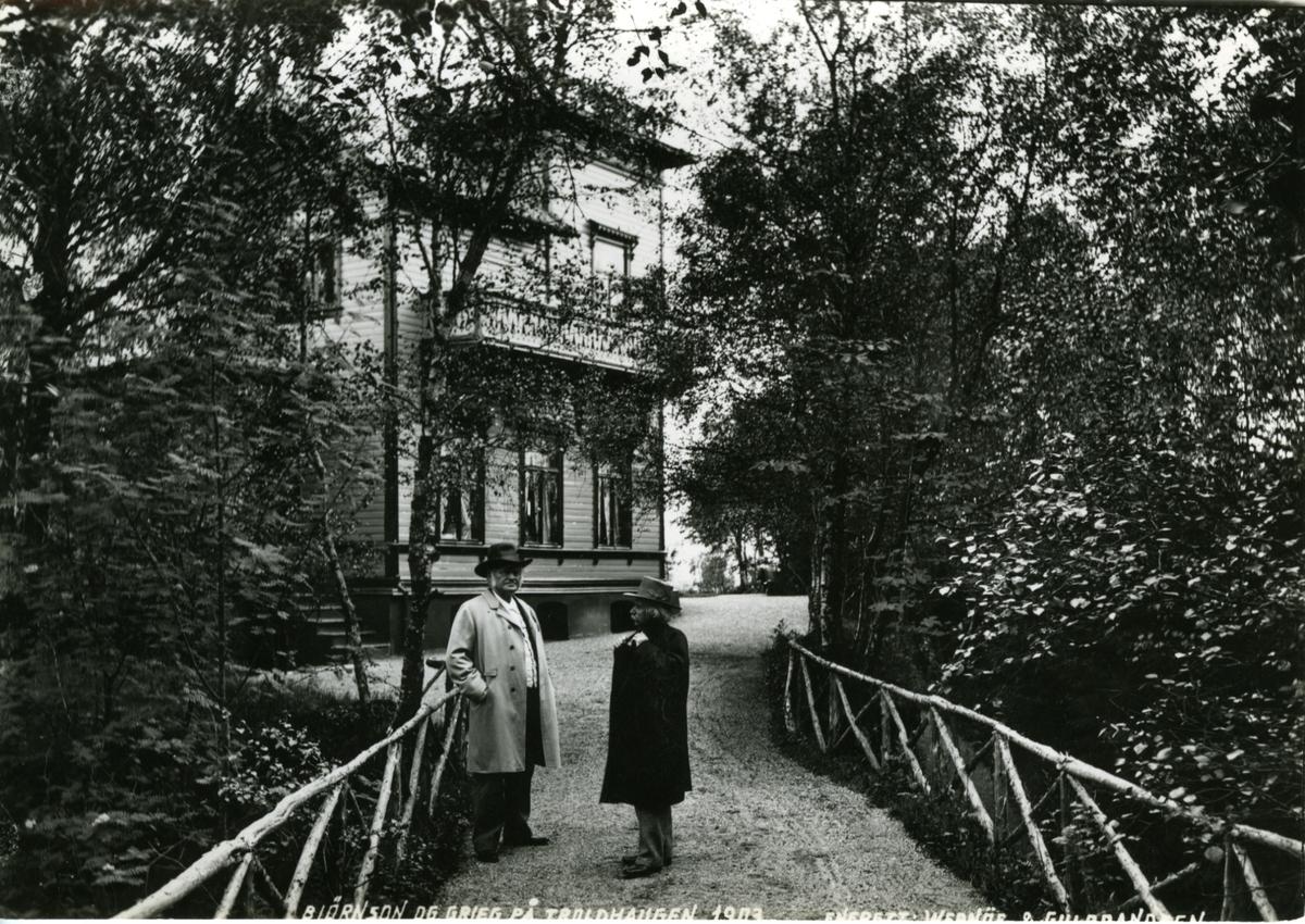 Troldhaugen, Grieg, Bjørnson, hus, postkort,