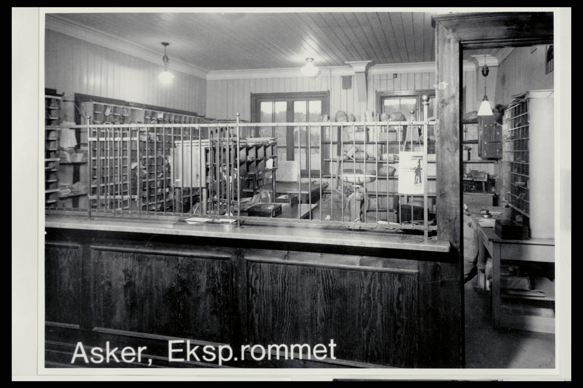interiør, postkontor, 1370 Asker, ekspedisjon