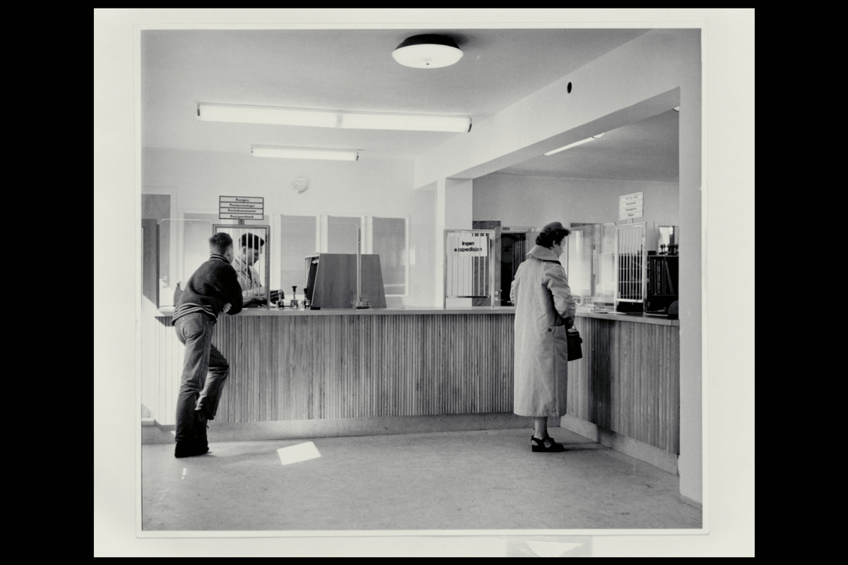 interiør, postkontor, 5400 Stord, publikumshall, ekspeditør, kunde
