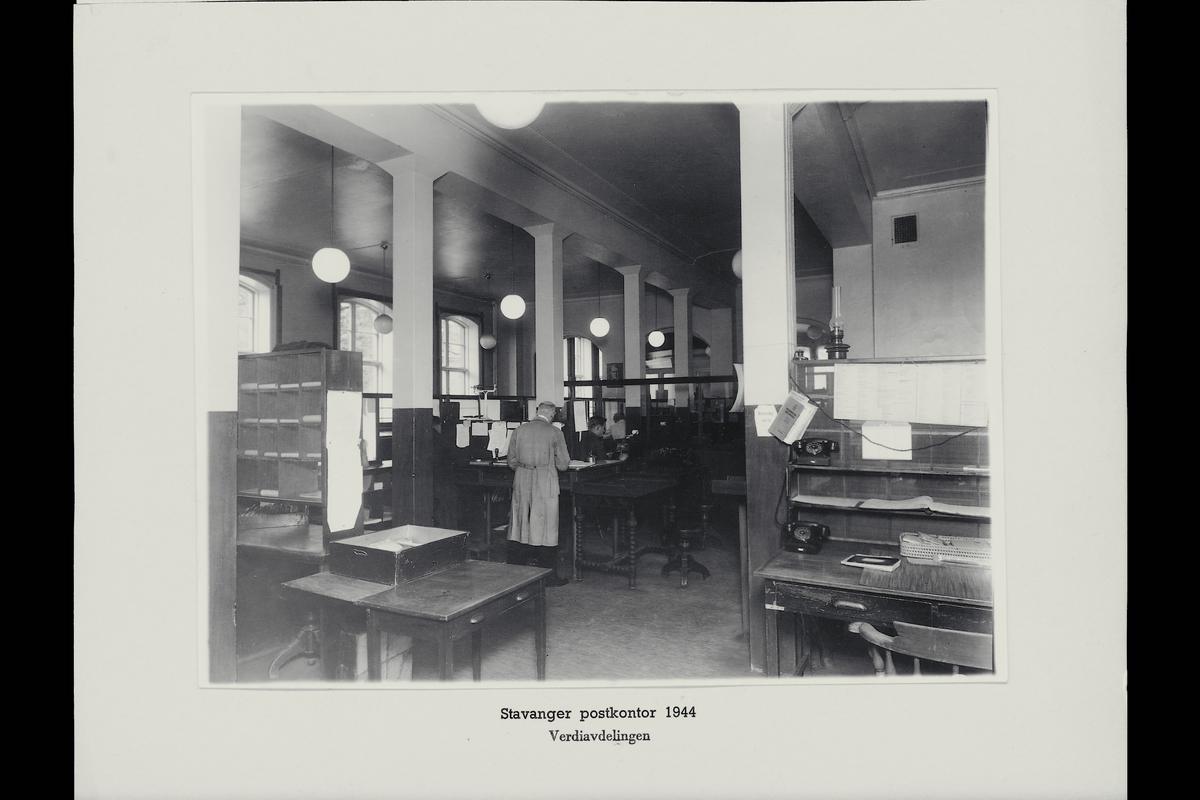 interiør, postkontor, 4001 Stavanger, verdiavdeling, personale