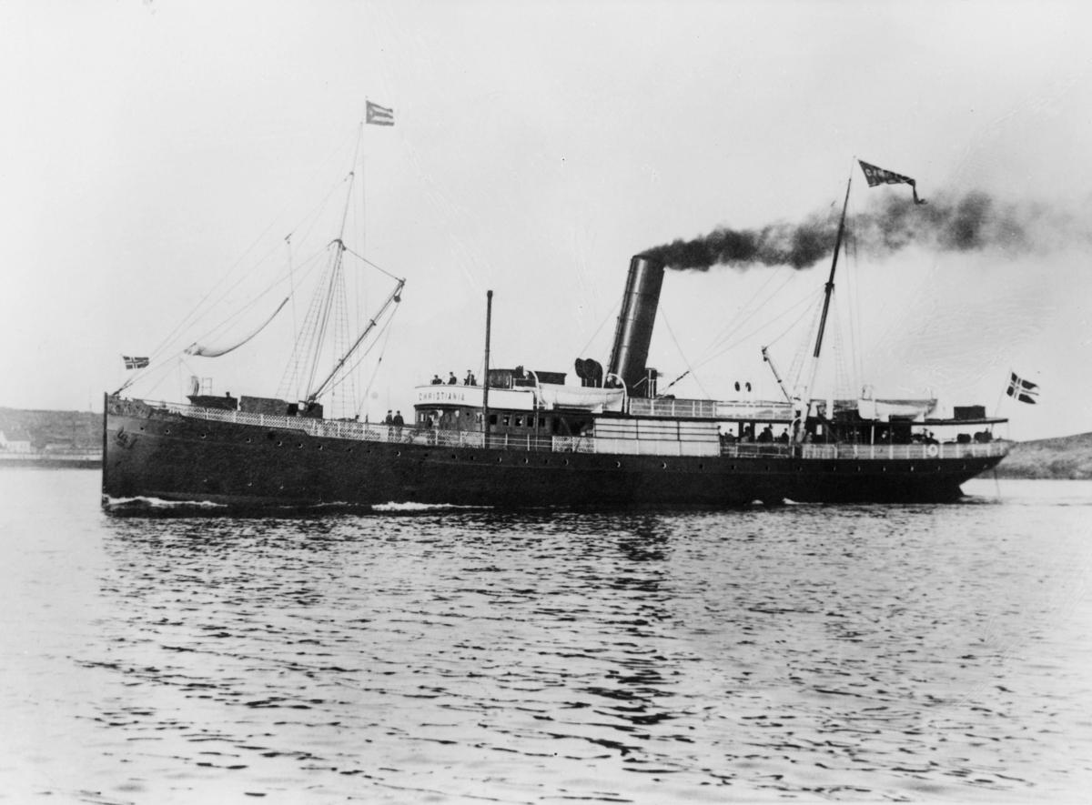 transport, båt, eksteriør, D/S Christiania, Det Stavangerske Dampskipsselskap, Oslo-Bergen