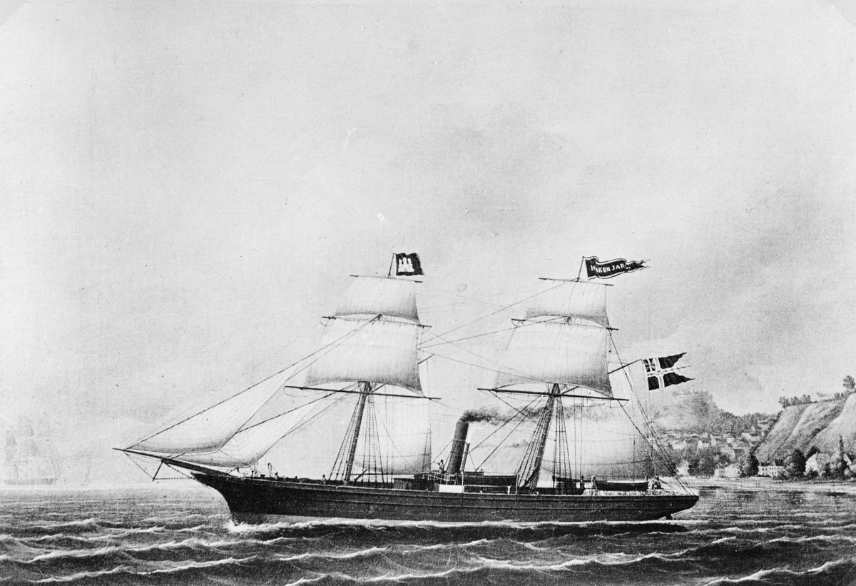 transport båt, eksteriør, D/S Haakon Jarl, hurtigrute, åpen sjø