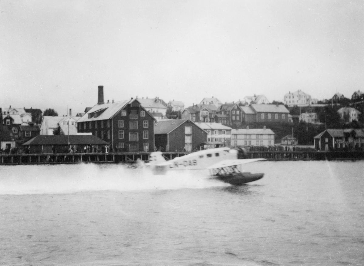 transport, fly, sjøfly, Ternen, DA9, Sandnessjøen