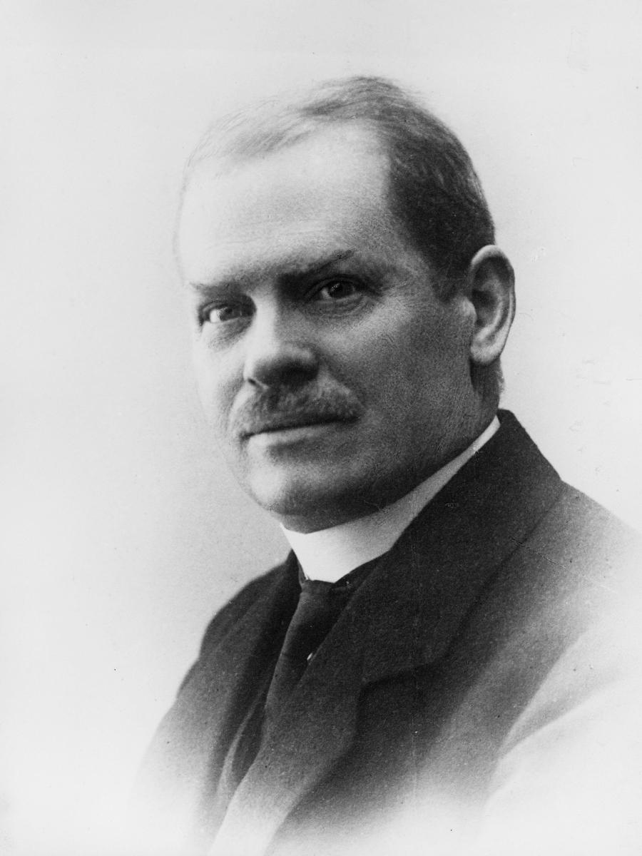 portrett, postmester, Johan Thurn