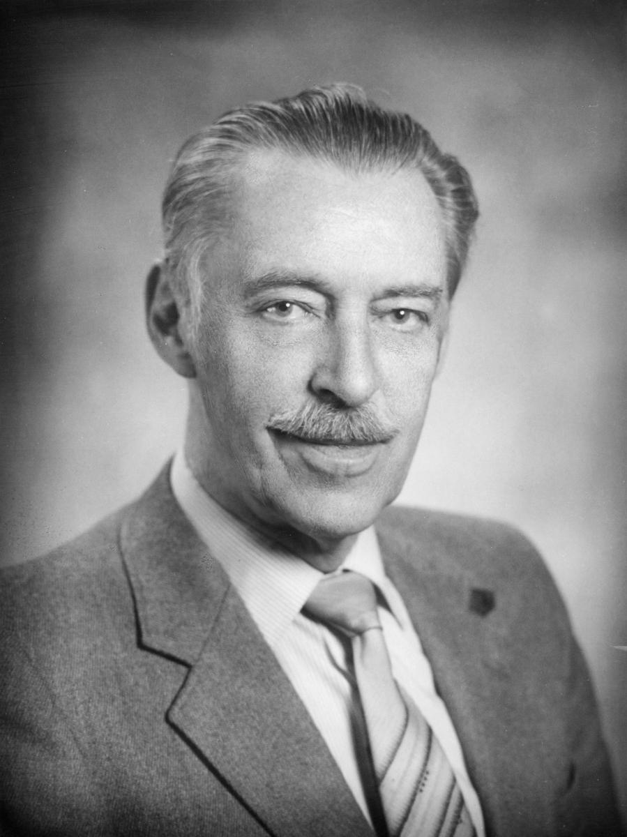 postsjef, Leren Håkon Johan, portrett