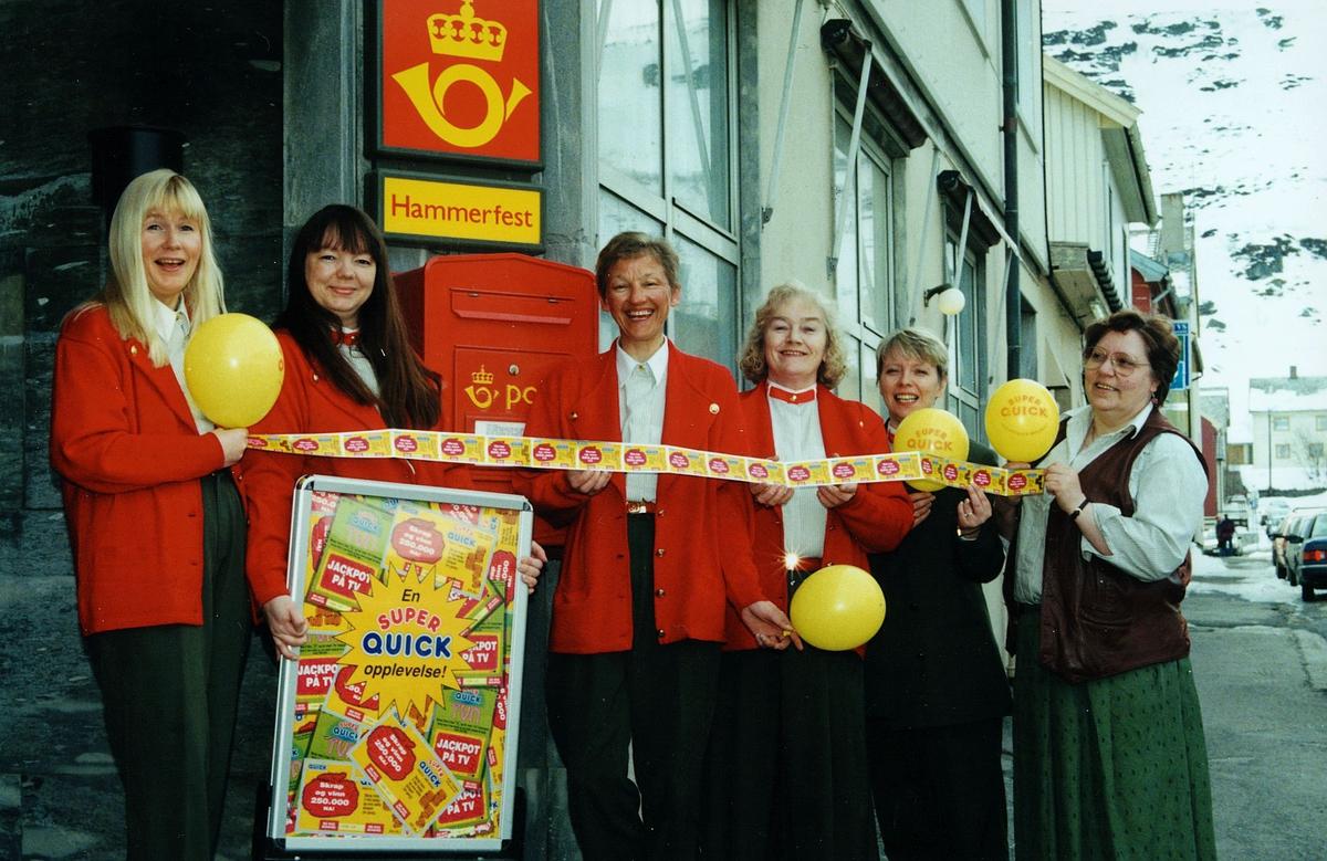 personale, postkontor, 9600 Hammerfest, seks kvinner, 2.plass i quicklodd salg