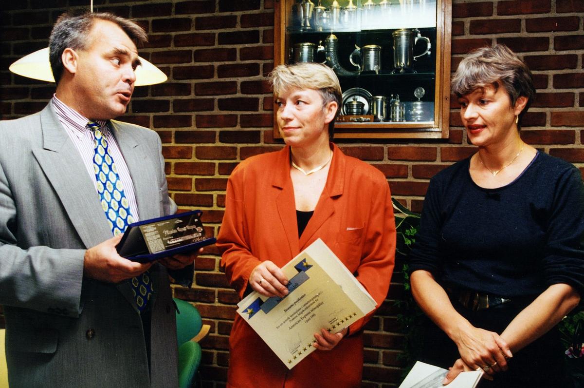 begrepet personale, Bergen, kampanje for AM express, en mann, to kvinner