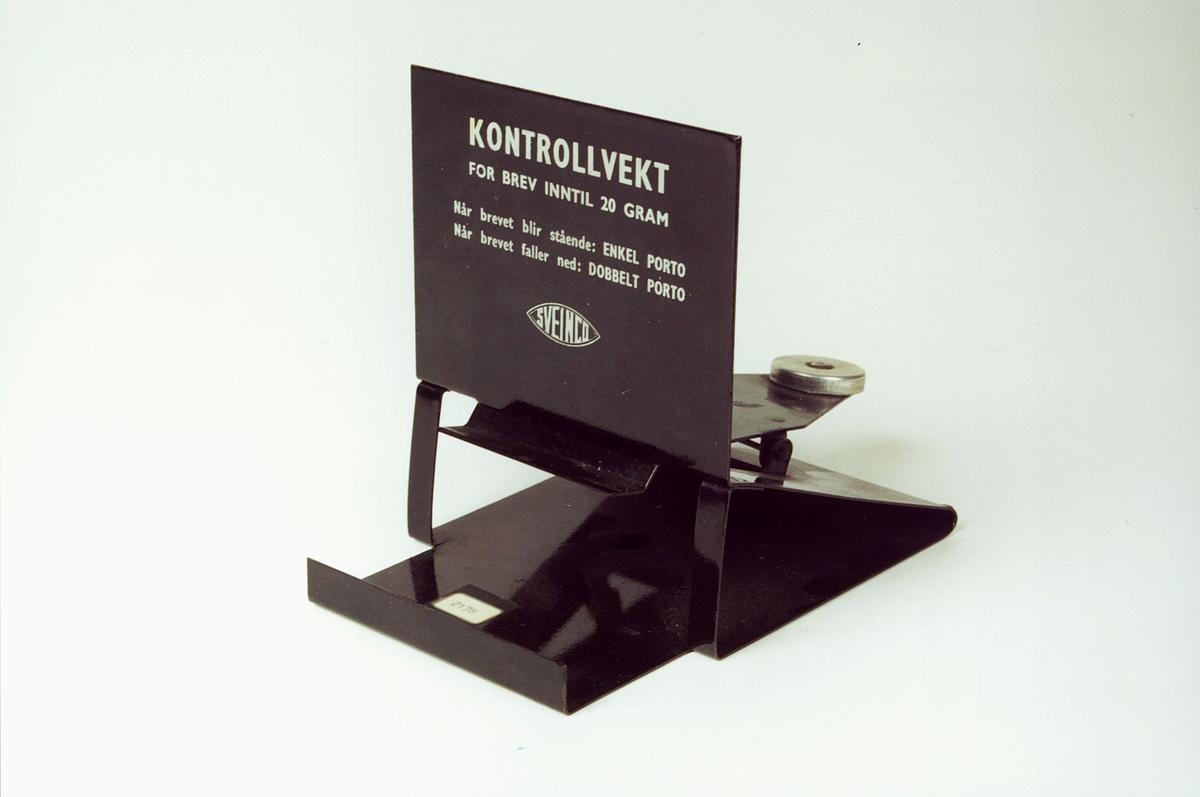 Kontrollvekt for brev inntil 20 gram.
