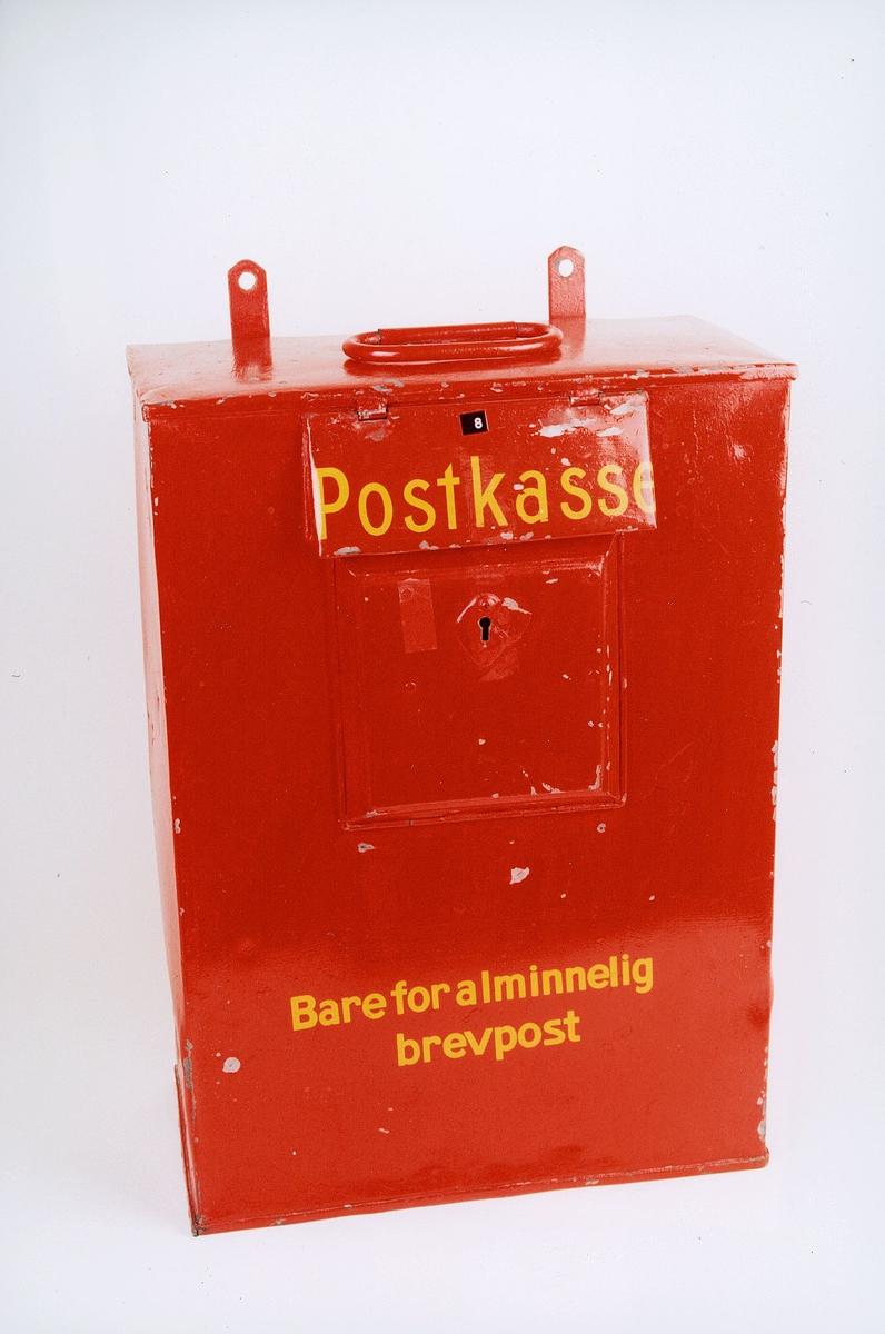 postmuseet, gjenstander, postkasse, Bare for alminnelig brevpost