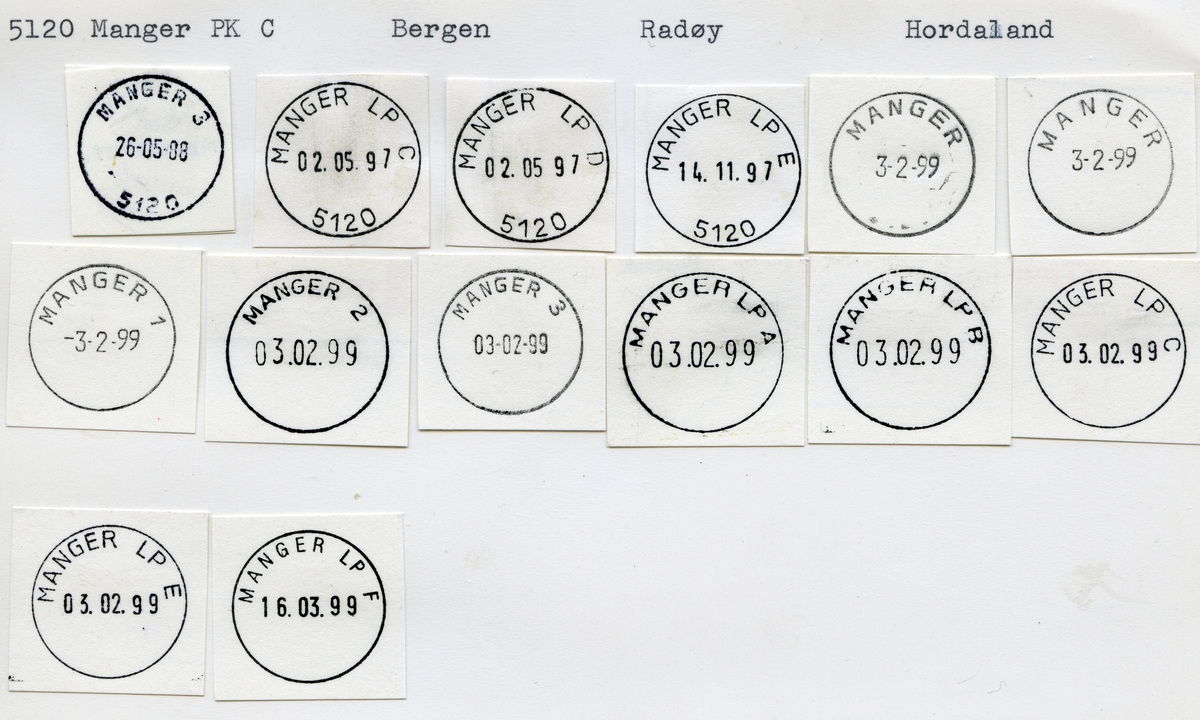 Stempelkatalog, 5120 Manger, Radøy kommune, Hordaland