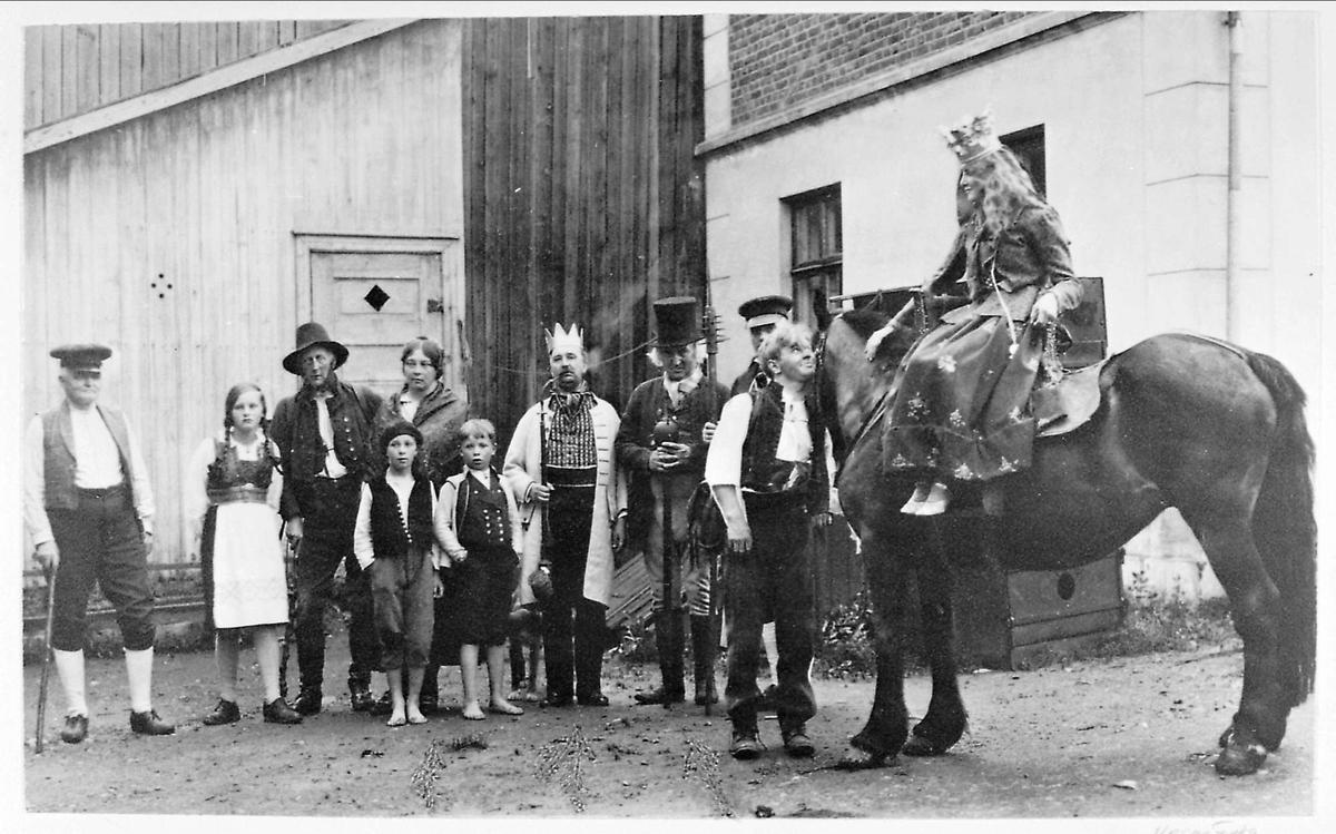 Opptog, kostyme, hest, jubileum