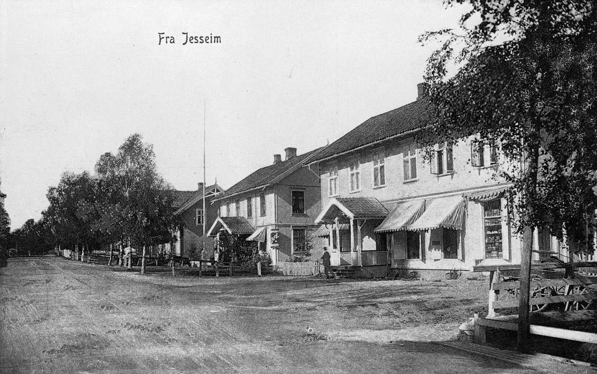 Gate og hus på Jessheim.