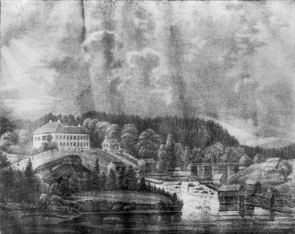 Avfotografert maleri. Motiv fra Bønsdalen?