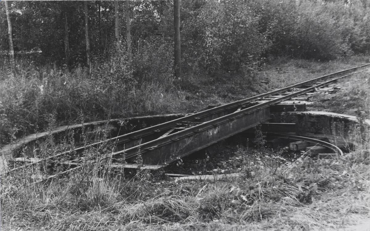 Svingskiven på Sørumsand stasjon.