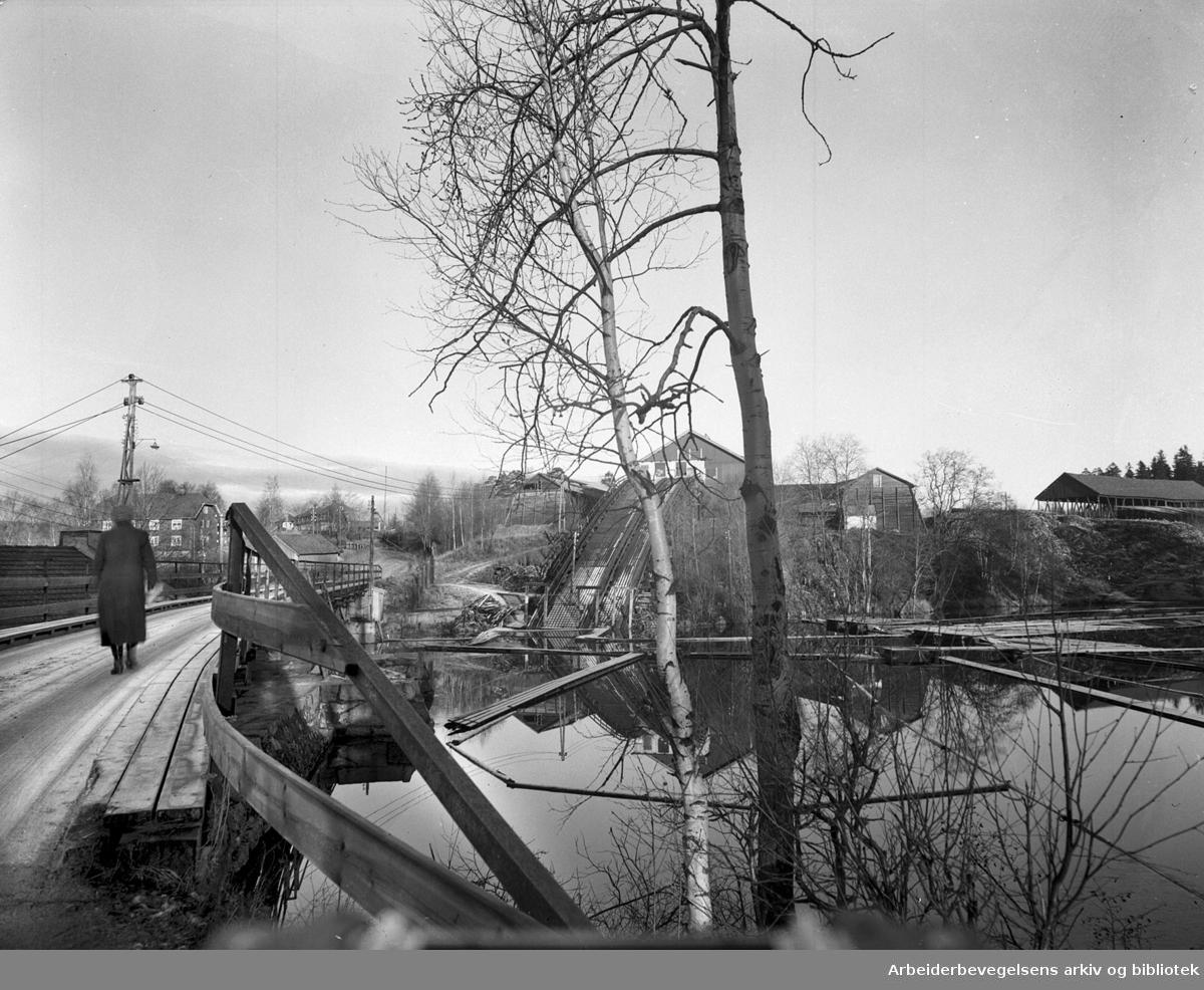 Akerselva - Brekkedammen,.ca. 1950