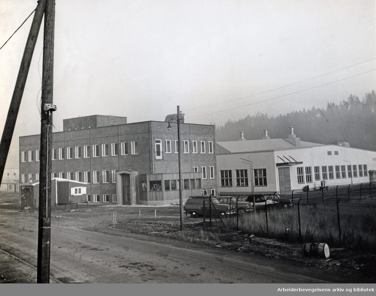 Norsk Viftefabrikk på Bryn,.november 1955