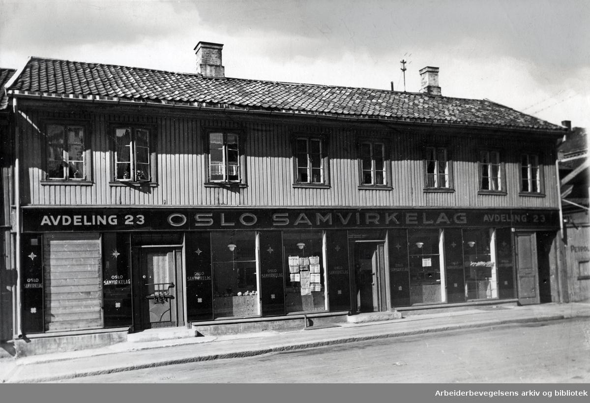 Oslo samvirkelag, avdeling 23 i Bøgata 4,.ca. 1930
