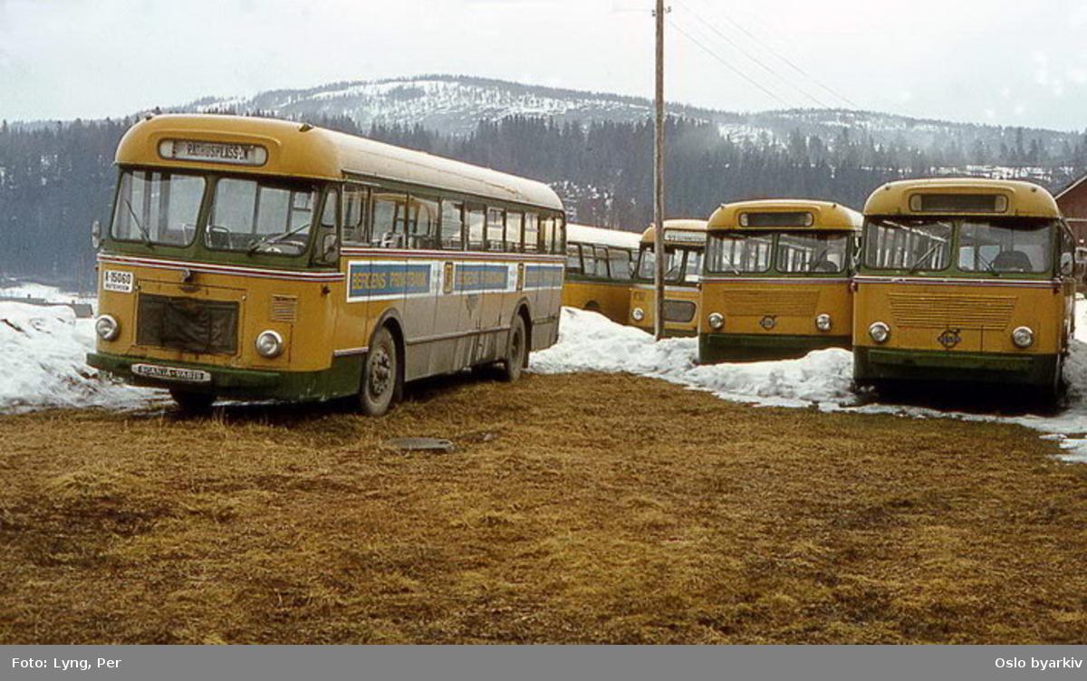 Busser, Ing. M.O. Schøyens Bilcentraler (SBC) buss A-15060 m.fl.