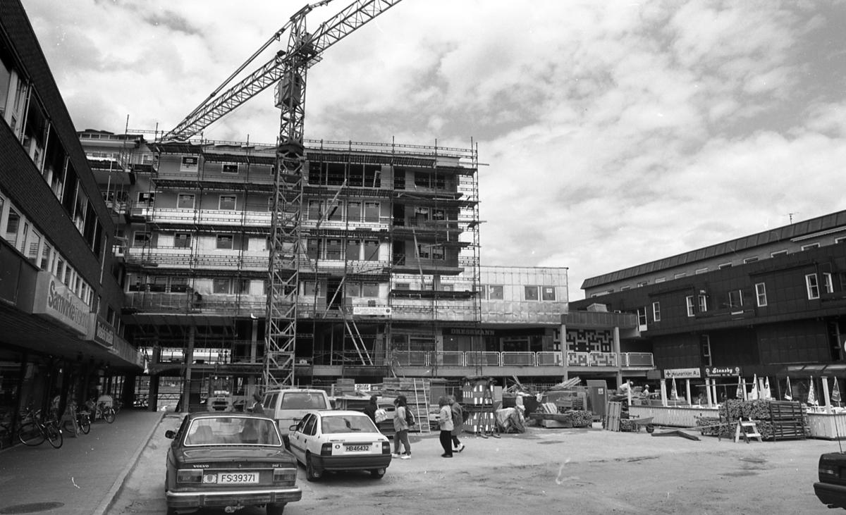 Område ved Politihuset under bygging