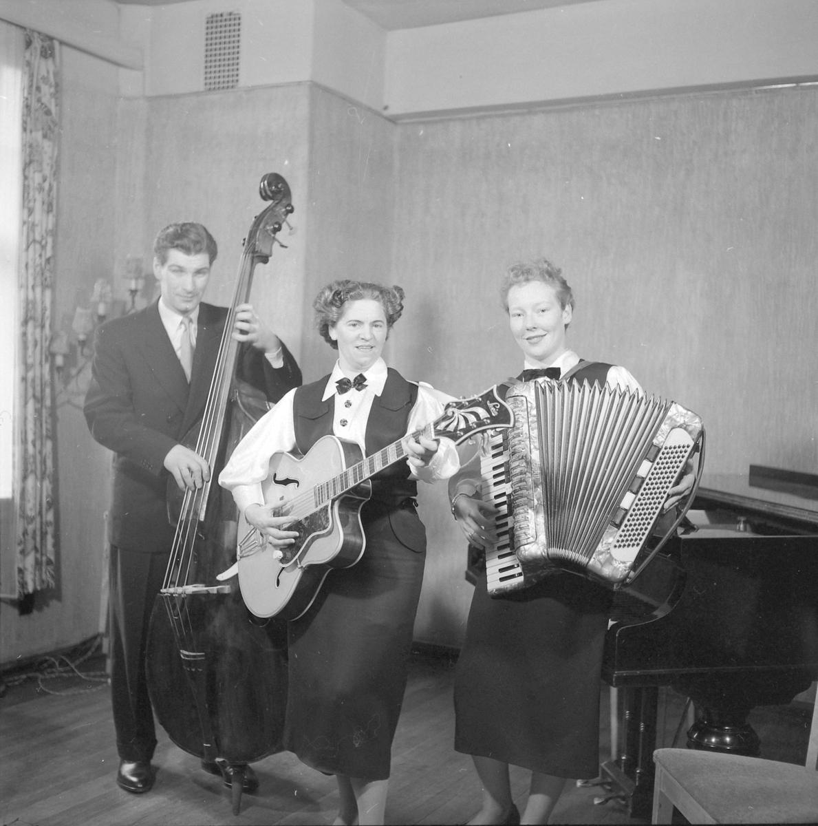 Helge Grande, kvartett i NRK's studio Sverresborg