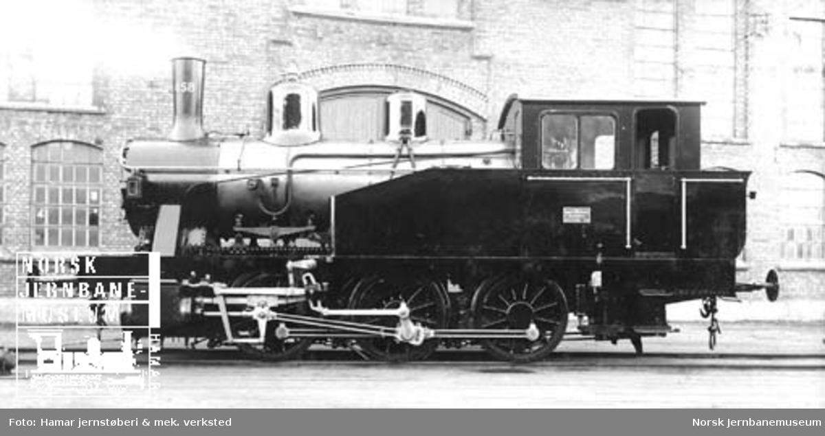 Leveransefoto av damplokomotiv type 23b nr. 458