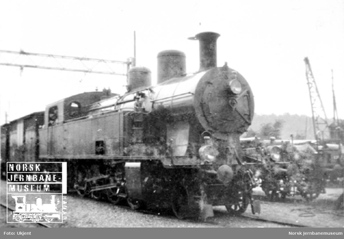 Sveitsisk damplokomotiv fra Thurnerseebahn type Ec4/6 nr. 61