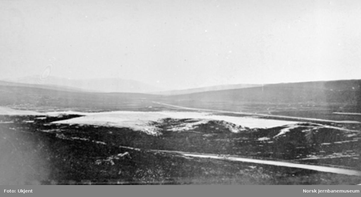 Sanddynene ved Røros med Hummelfjell i bakgrunnen
