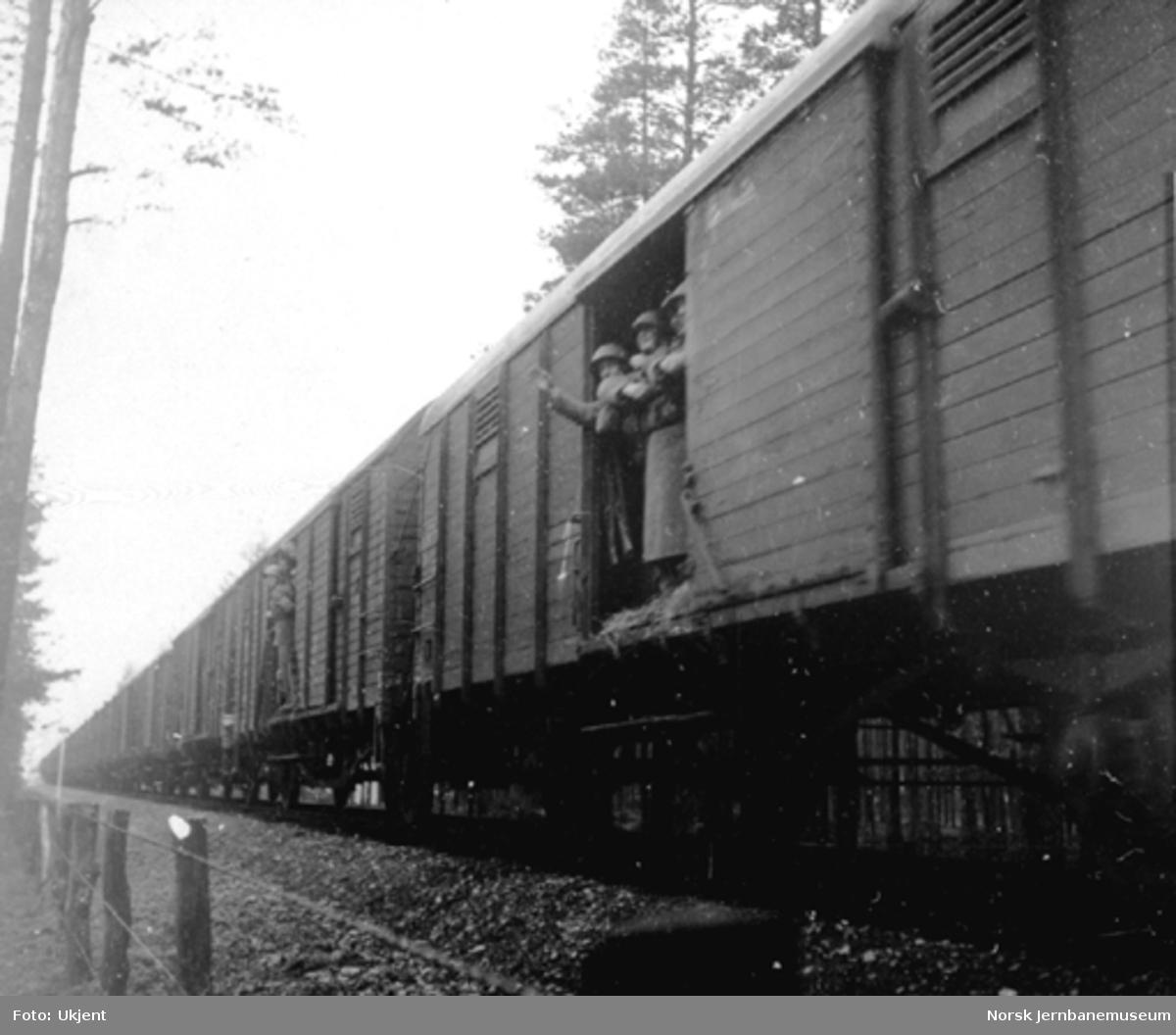 Tog fra Sverige i 1945
