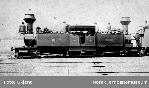 """Damplokomotiv av type Fairlie tilhørende en gruvebane i Mexico, nr. 46 """"Tezuitlan"""""""