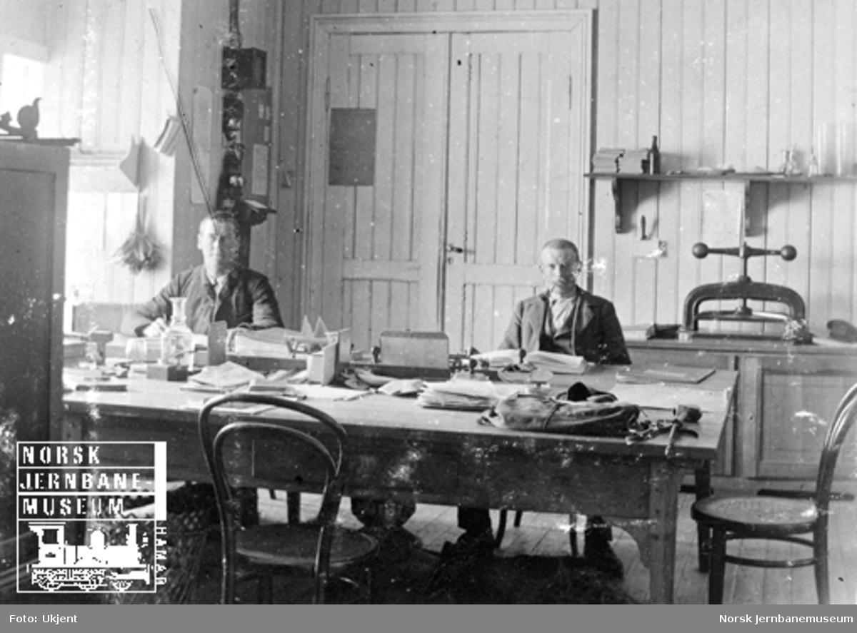 Anleggskontoret på Bergensbanens 4. avdeling på Hallingskeid stasjon