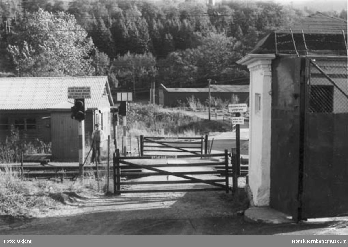 Lille Solheim planovergang sett fra vest