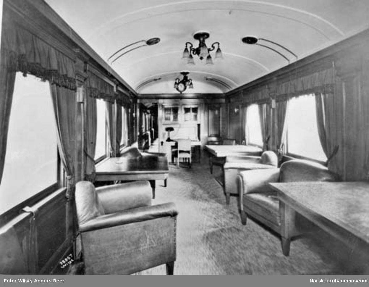 Hovedstyrets salongvogn litra ABo1b nr. 118, interiør i salongen
