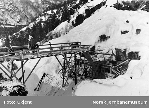 Hunsdalen viadukt : støping av den nordligste pilarsokkel