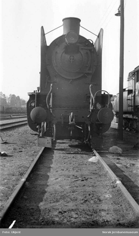 Damplokomotiv type 45a nr. 1 i Lodalen, sett forfra