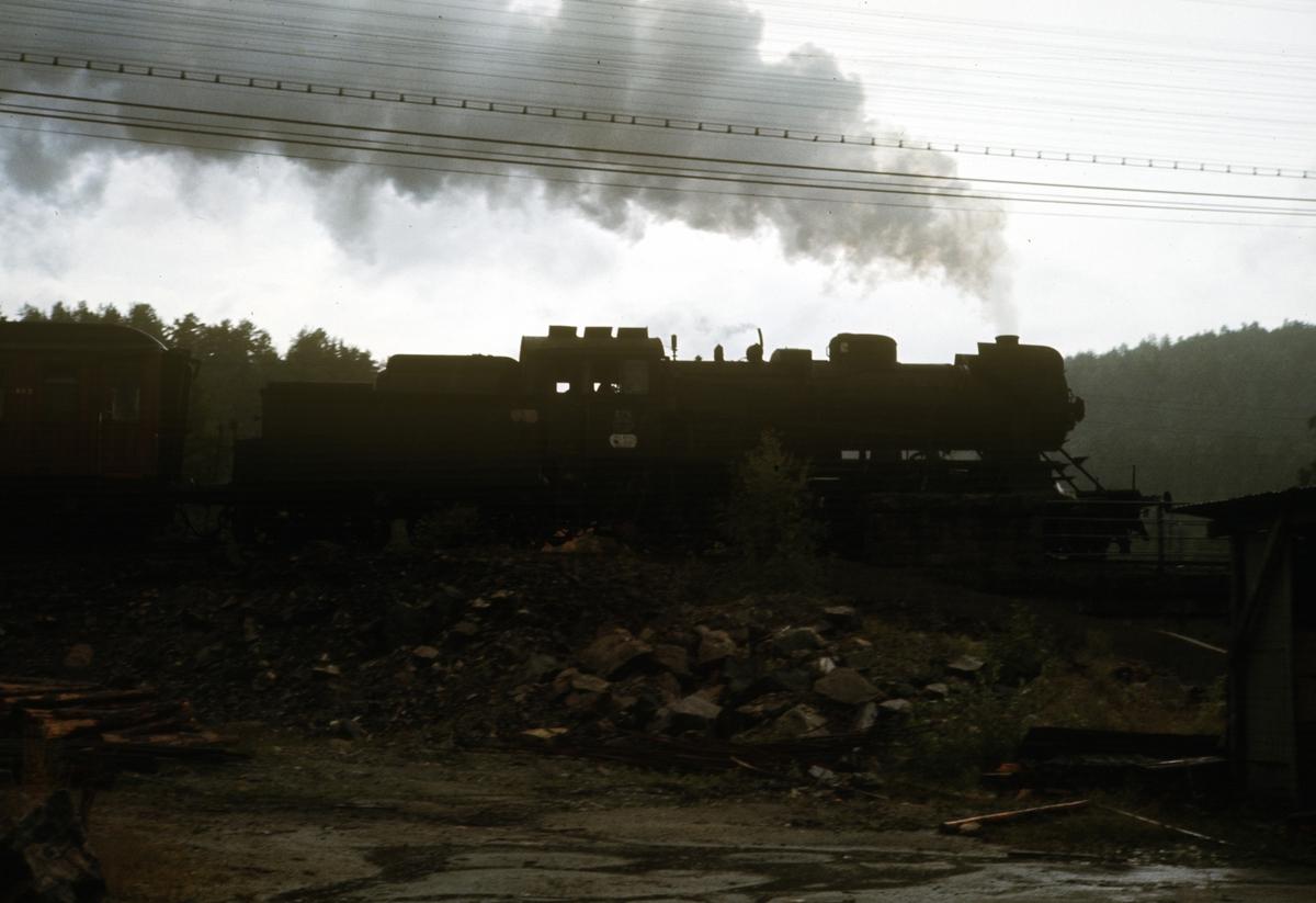 Tog på Kragerøbanen trukket av damplok type 31a