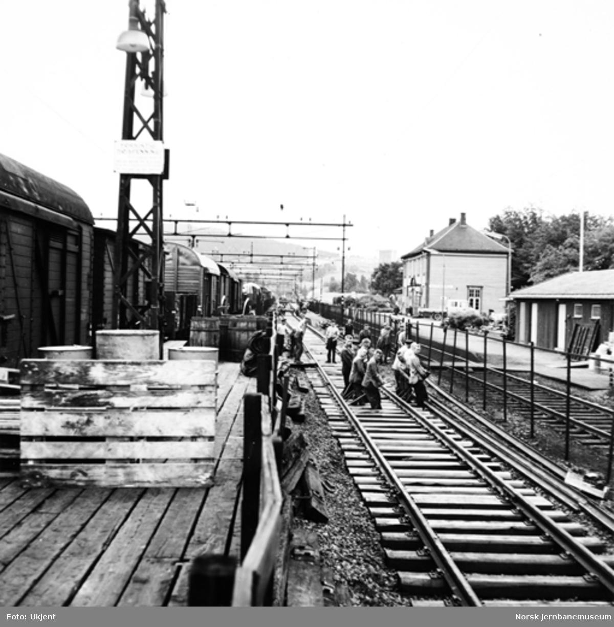 Baksing av spor på Alnabru stasjon